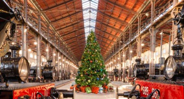 Portici mercatini di natale al museo ferroviario di pietrarsa